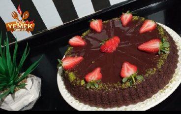 Çikolatalı Soslu Kakaolu Tart Kek